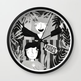 Kisses For Sale Wall Clock