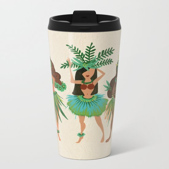 Luau Girls Metal Travel Mug