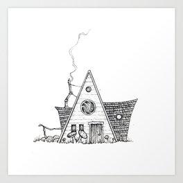 Hermit Cabin Art Print