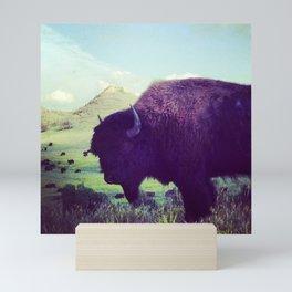 Roaming Buffalo in North Dakota Mini Art Print