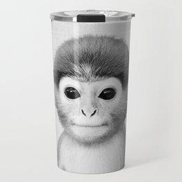 Baby Monkey - Black & White Travel Mug