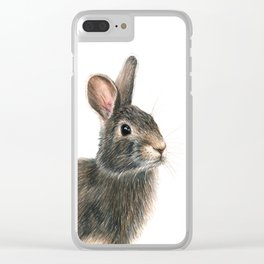 Eastern Cottontail Clear iPhone Case
