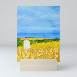 There's a Ghost in the Wheat Field Mini Art Print