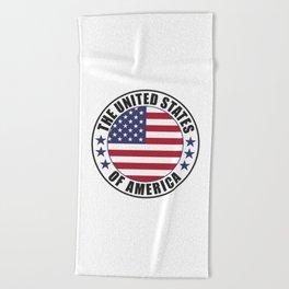 The United States of America - USA Beach Towel