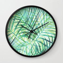 Tropical Greenery III Wall Clock