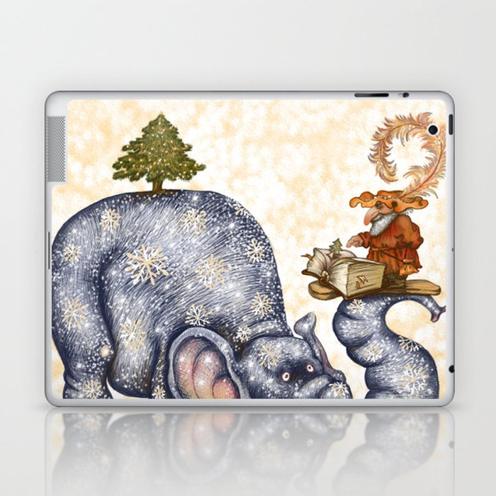 Winter elephant Laptop & iPad Skin
