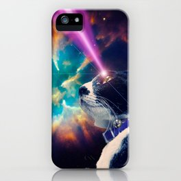 Neko San in Space iPhone Case