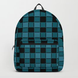 Teal & Black Checker Backpack