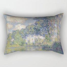 1891-Claude Monet-Poplars on the Epte-81 x 81 Rectangular Pillow