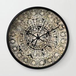 BLACK & GOLD MANDALA ARMARRI OKRE Wall Clock