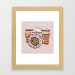 WOOD CAN0N Framed Art Print