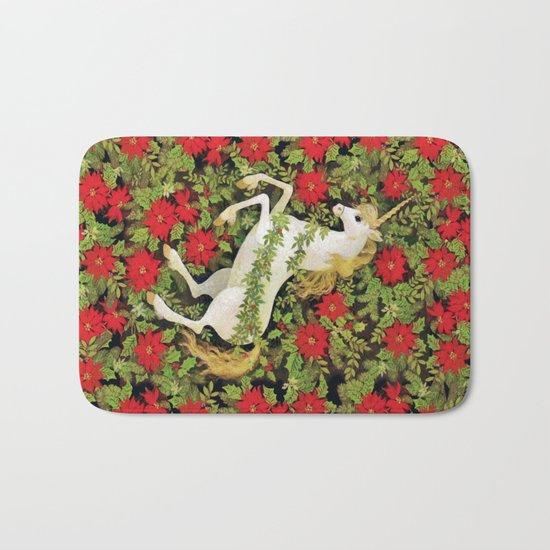 Christmas Unicorn Bath Mat