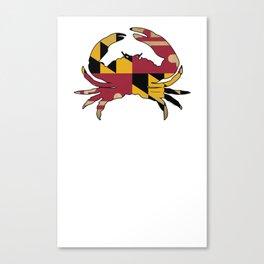 Maryland Crab Flag VINTAGE Canvas Print
