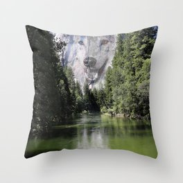 Wolf Mountain Throw Pillow