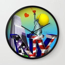 NY Wall Clock