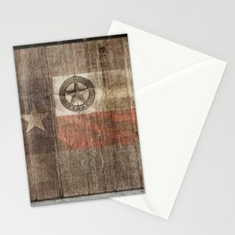 Lone Star State #Texas #woodbackground Stationery Cards
