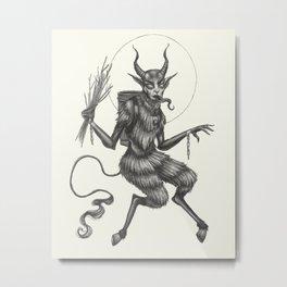 Krampus Metal Print