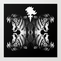 supreme Canvas Prints featuring Supreme Ruler  by We Are Dreamers