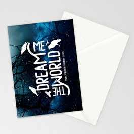 Dream me the world v2 Stationery Cards