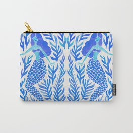 Kelp Forest Mermaid – Blue Palette Carry-All Pouch