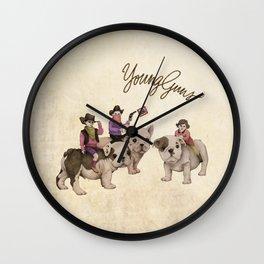 Young Guns Wall Clock