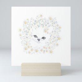 Contemplative kitten Mini Art Print