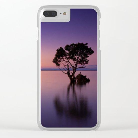 purple dreams Clear iPhone Case