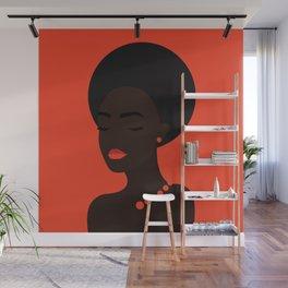 Beautiful afro-american woman Wall Mural
