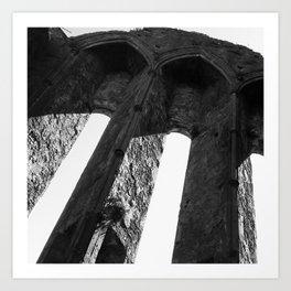 Rock of Cashel arch Ireland Art Print