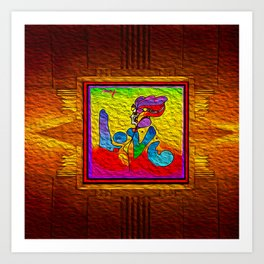 LOVE IN THE TIME OF ELEVATORS-2 Art Print