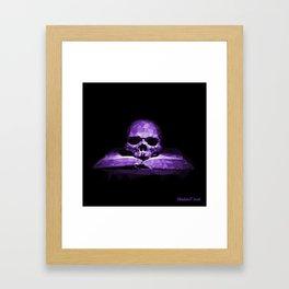 Memento mori - royal violet Framed Art Print