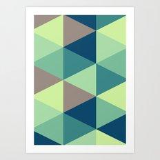 I spy triangles Art Print