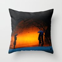 central park Throw Pillows featuring Central Park by Nick Duarte