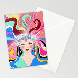 Goddes,abstract,Russian folk inspired art decor  Stationery Cards