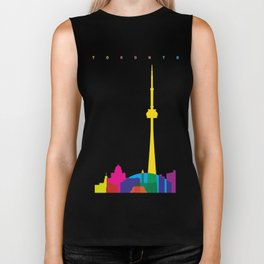 Shapes of Toronto. Accurate to scale Biker Tank