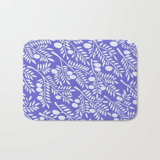 Olive Branches – Periwinkle Bath Mat