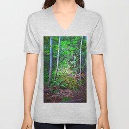 Birch Trees Unisex V-Neck