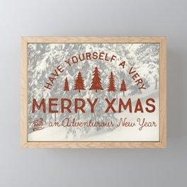 Merry Xmas Framed Mini Art Print