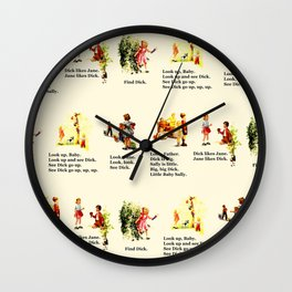 Adventures of Dick & Jane Wall Clock