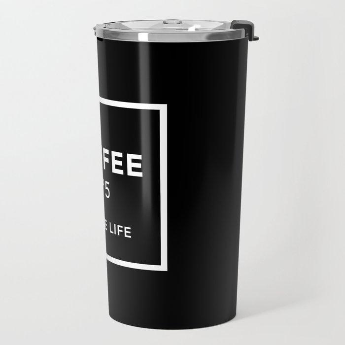 Black Coffee No5 Travel Mug