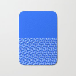 Geo Lines (Blue & White) Bath Mat