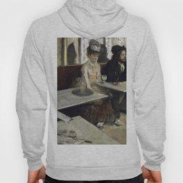 The Absinthe Drinker by Edgar Degas Hoody