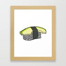 Avocado Nigiri Framed Art Print