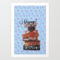 voyage Art Prints featuring VOYAGE! by Ylenia Pizzetti