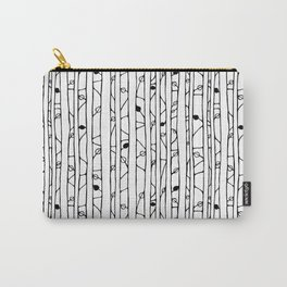 Into the Woods black on white Carry-All Pouch