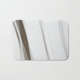 Abstract Grey Lines on White Bath Mat