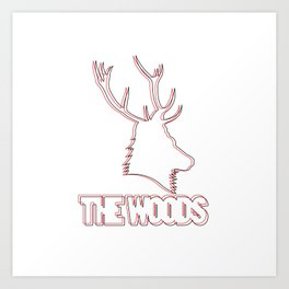 Wooded lines Art Print