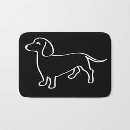 Doxie Love White Bath Mat