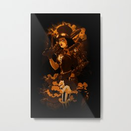 Steamy Metal Print