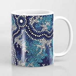 Authentic Aboriginal Art - Wetland Dreaming 2 Coffee Mug